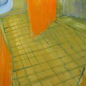 Badkamer- Olieverf op linnen- 100 x 80 cm