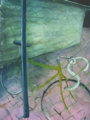 Fiets en hek